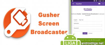 Gusher - Screen Broadcaster